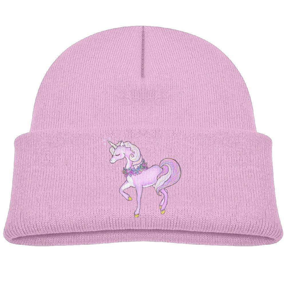 Baby Girls Unicorn Beanie for Winter Lovely Warm Cap