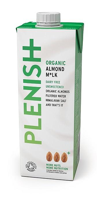 9 opinioni per Plenish Latte di Mandorle Organico senza Zucchero Non Caseario 1L (Confezione da