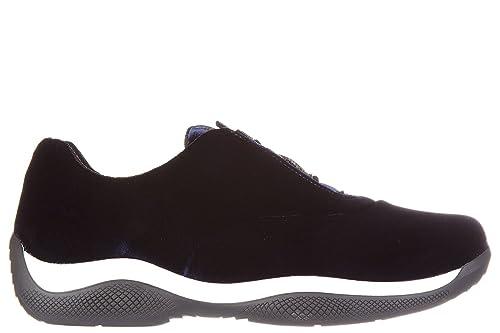 Prada Scarpe Sneakers Donna Nuove Originale Blu EU 38 3E6205 3ON2 F0008   Amazon.it  Scarpe e borse 96cf9909bb8