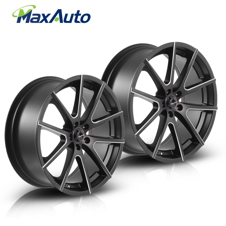 Wheels Rims Matt Black Milling Spoke Surface 20x8 5 Inch 5x108 Mm