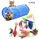 PietyPet Cat Toys, Pet toys Variety Pack for Cat Kitten Kitty 15 pieces