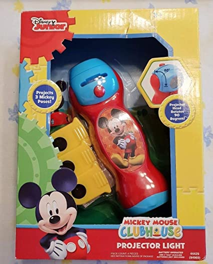 Disney Junior Mickey Mouse Clubhouse Mickey Projector Light Flashlight with Rotating Projector Head