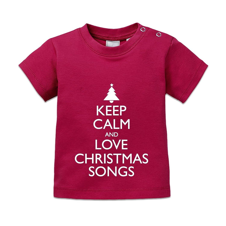 Amazon.com: Shirtcity Keep Calm And Love CHRISTMAS SONGS Baby T ...