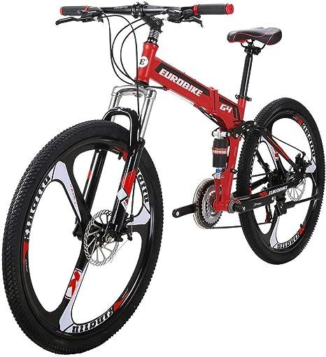GAODI Bicicleta Plegable G4 21 montaña de la Velocidad de la Bici de 26 Pulgadas de 3 radios Ruedas de Bicicleta Plegable Bicicleta de montaña Rojo: Amazon.es: Deportes y aire libre