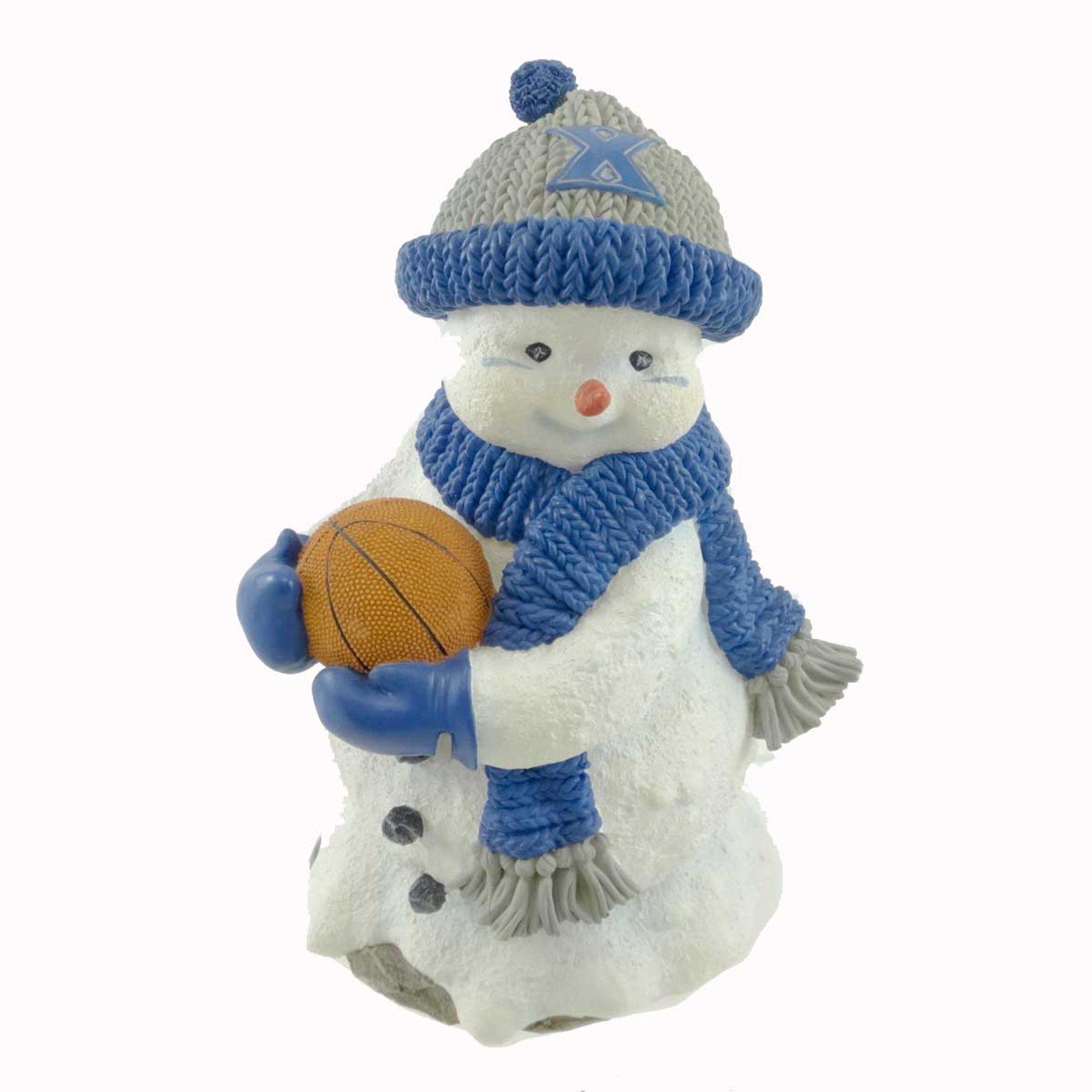 Full 90 Sports HENRY 1 FAN OF XAVIER UNIVER Resin Basketball College Snowman 517XA