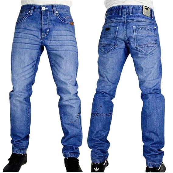 Peviani Mens Designer Blue Star Denim Jeans ffba26bc9