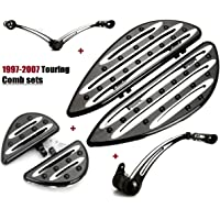 Frames /& Fittings Chrome Rider Footboard Heel Guard for Harley FLD 12-16 FL Softail Switchback 1986-17 Touring Road King Street Electra Glide