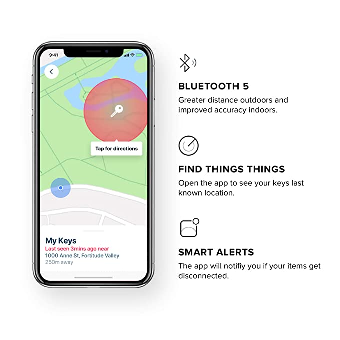 Safedome Smart Key Locator with Bluetooth Tracker, Premium Leather Fob to Find Lost Car or House Keys, Backpack, Luggage, or Phone, Water Resistant ...