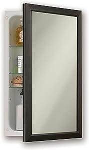 Jensen 625N244BZCX Bronze Frame Medicine Cabinet, 15.75