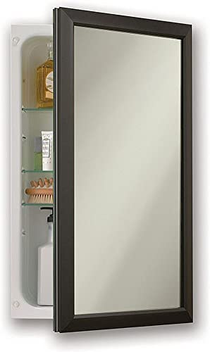 Jensen 625N244BZCX Bronze Frame Medicine Cabinet, 15.75 x 25.5