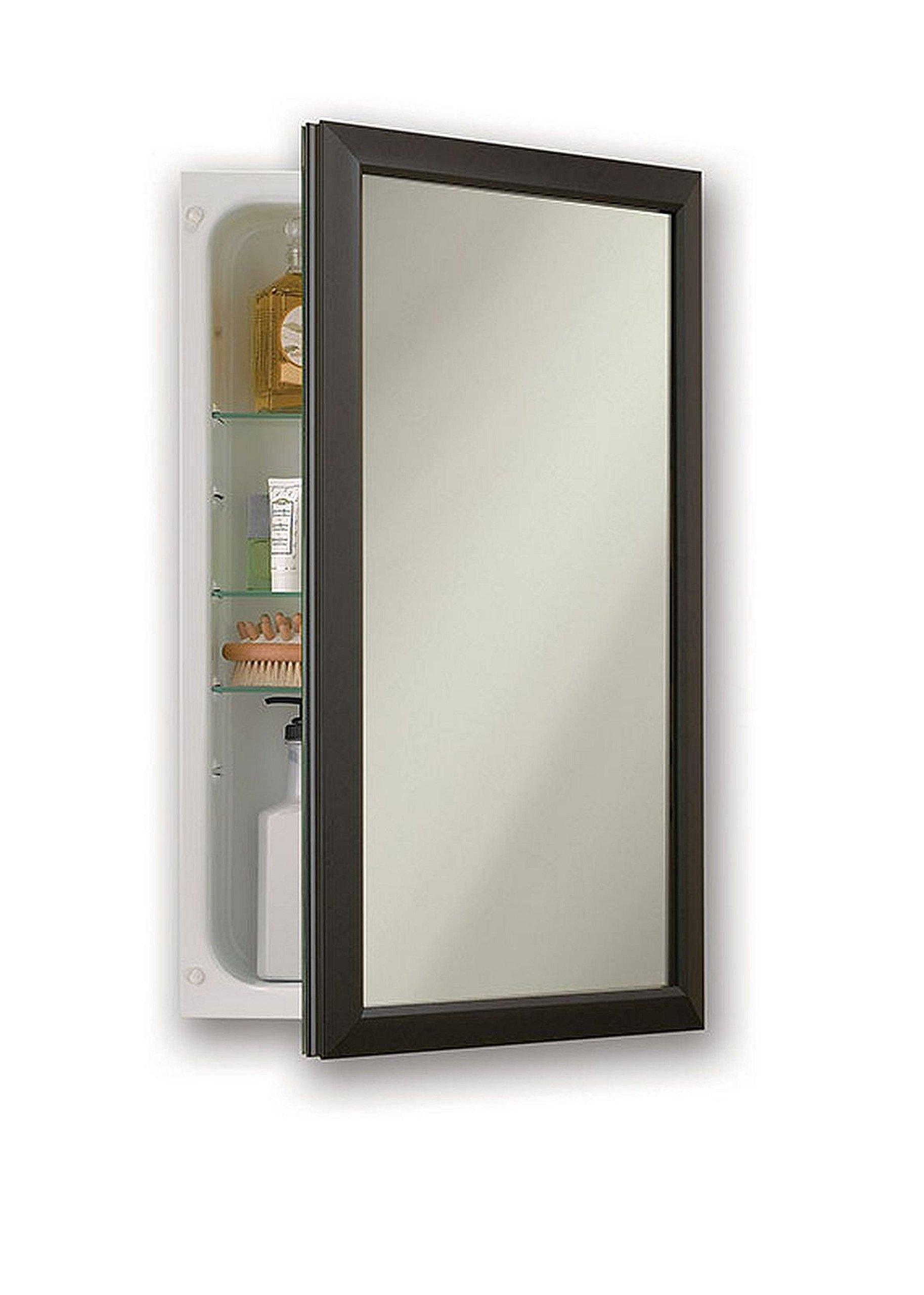 Jensen 625N244BZCX Bronze Frame Medicine Cabinet, 15.75'' x 25.5''