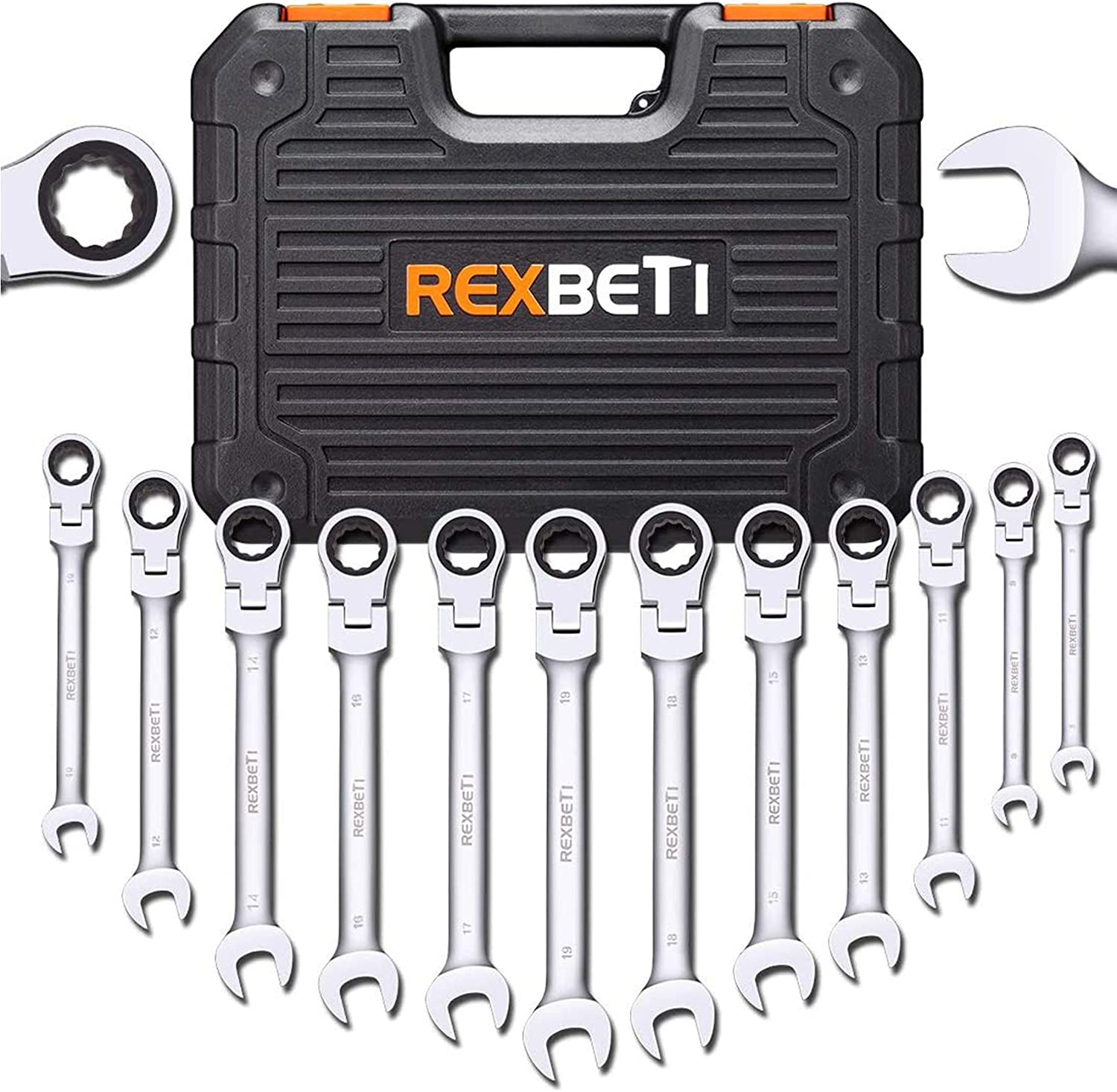 Ratcheting Wrench Set Metric Combination Set Tools Ratchet Any Size