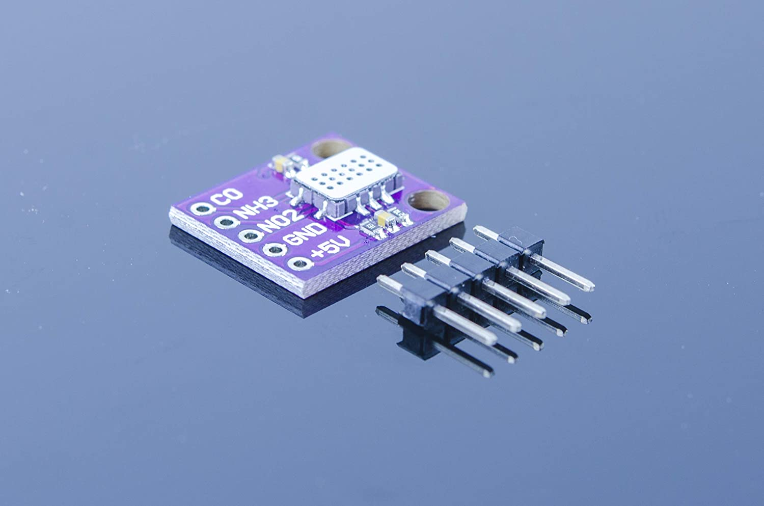 ACROBOTIC MiCS6814 Combined Carbon Monoxide, Nitrogen Dioxide, and Ammonia Gas Analog Sensor Breakout Board for Arduino Raspberry Pi ESP8266 MiCS-6814 5VDC CO NO2 NH3 VOC