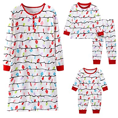 089d6b14a Family Matching Clothes Mother Baby Kids Christmas Pyjamas Lantern ...