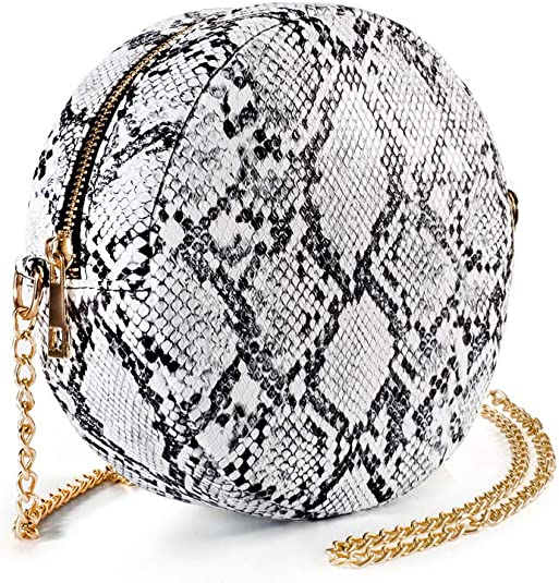 LeahWard Women/'s Small Faux Leather Snake Skin Chain Strap Cross Body Bag Party