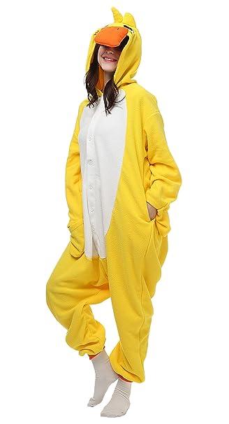 Feoya Unisex Disfraz de Animal Cosplay Hombre Mujer Adultos Franela Pijama Mono Pajama Costume Cosplay Halloween