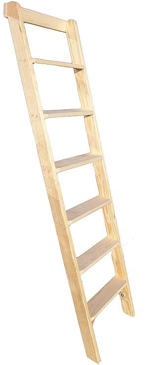 Anlegeleiter 6 Stufen Holz Deko Holzleiter Stufenleiter Hochbett Leiter