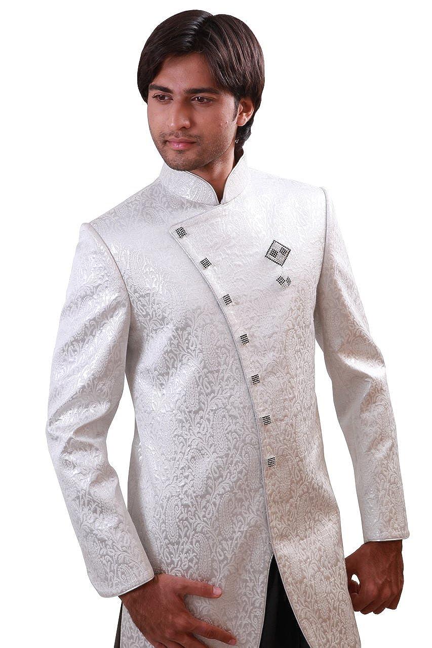 Amazon Com White Indian Wedding Indo Western Sherwani For Men Clothing