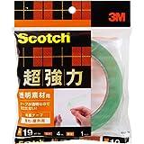 3M スコッチ 超強力両面テープ 透明素材用 19mm×4m STD-19