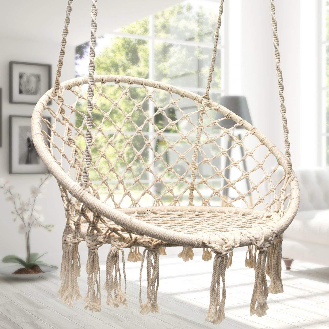 Amazon.com: Lelly Q – Hamaca para colgar de cuerda, asiento ...