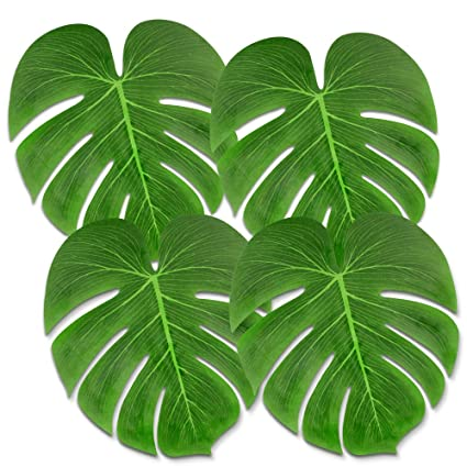 Party Diy Decorations Home & Garden 48pcs Artificial Tropical Palm Leaves Simulation Leaf Hawaii Luau Party Table Decorations Beach Wedding Table Decoration Comfortable And Easy To Wear