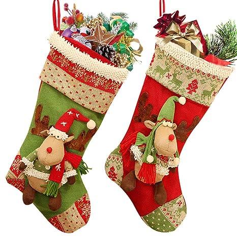 Decorazioni Natalizie Di Cartone.Calza Di Natale 18 Renna Di Cartone Animato Di Grandi