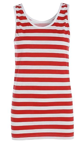 1dd9a572de Camiseta con rayas rojas y blancas