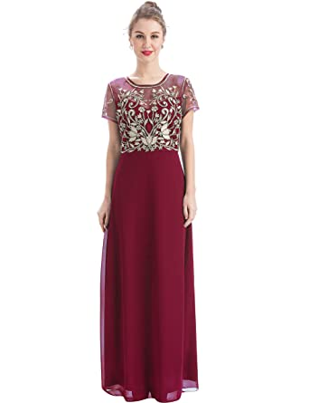 Embroidered Evening Gowns