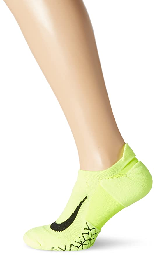 20b8faf503494 NIKE Dri-Fit Elite Cushioned No Show Running Socks-Volt-8-9.5