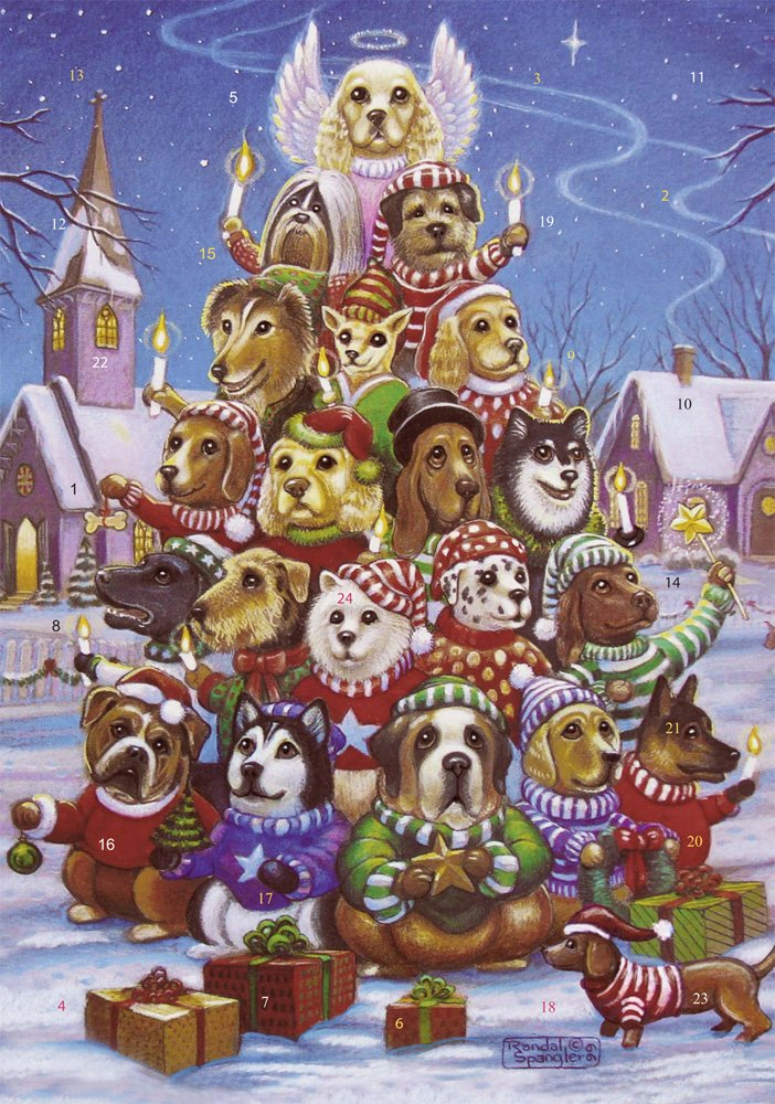 Canine Christmas Tree Advent Calendar (Countdown to Christmas) Vermont Christmas Company