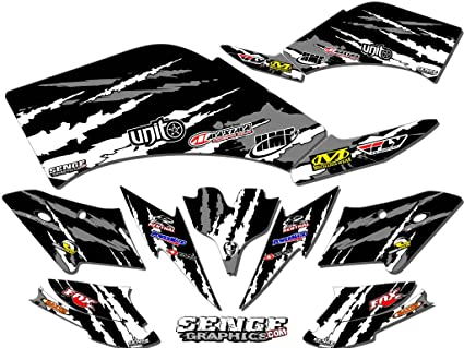 Amazoncom Senge Graphics 2003 2008 Suzuki Ltz 400 Shredder Black