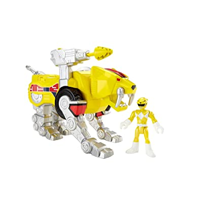 Fisher-Price Imaginext Yellow Ranger and Sabertooth Zord: Toys & Games