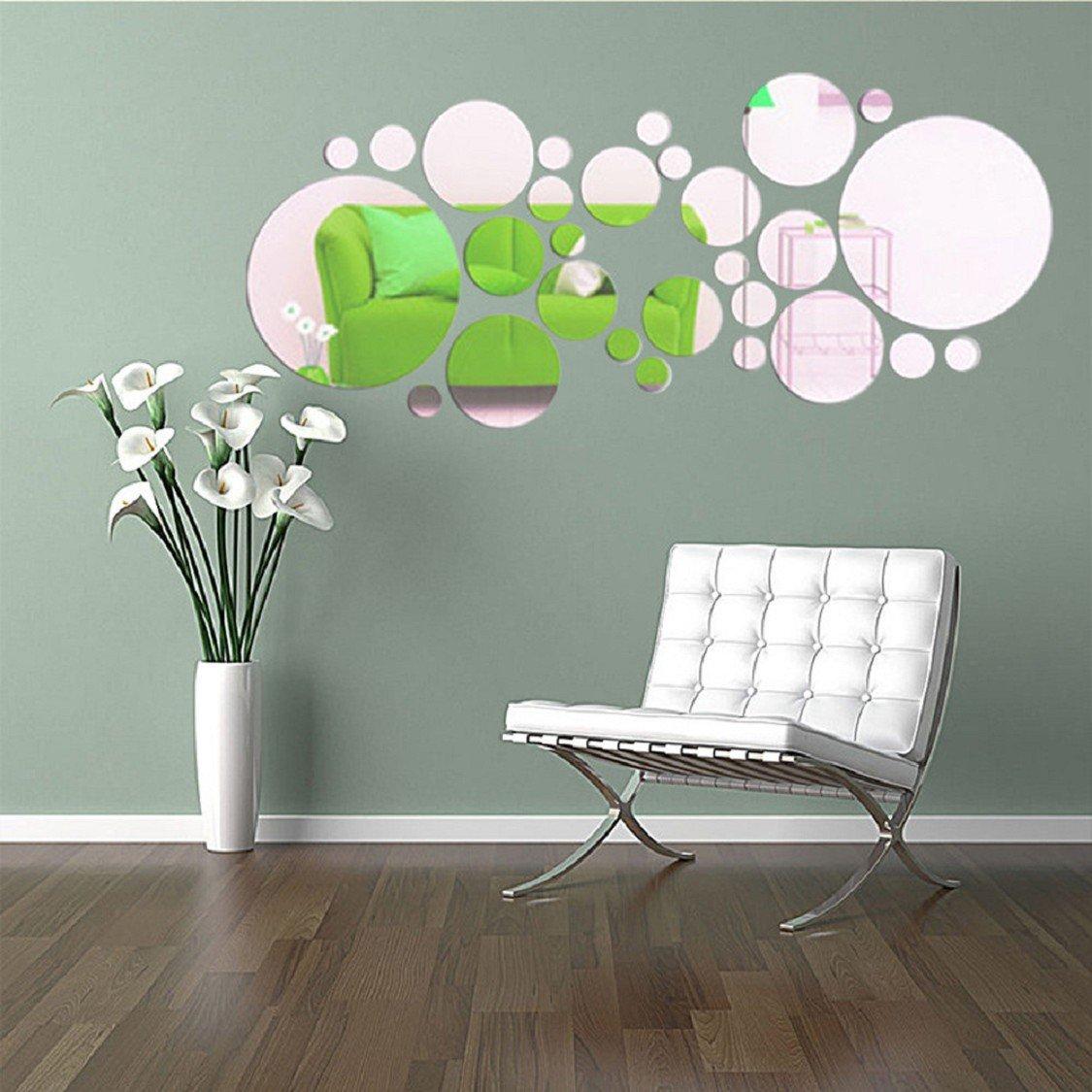 Ikevan 1 set 27 pcs acrylic art modern 3d mirror round wall ikevan 1 set 27 pcs acrylic art modern 3d mirror round wall stickers diy home wall room decals decor sofa tv setting wall removable wall stickers amipublicfo Images