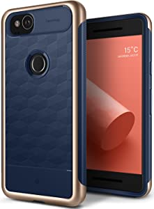 Caseology Parallax for Google Pixel 2 Case (2017) - Award Winning Design - Navy Blue