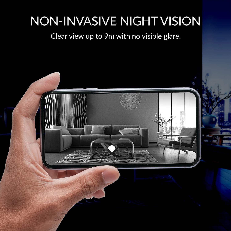 unterst/ützt Micro-SD-Karten Time-Lapse,Auto On//Off YI Kamera Wi-Fi Innenbereich 1080p Dome X,/Überwachungskamera Ip Camera WiFi Smart Kamera Sicherheit Full HD 360/°Pan-tilt,Bewegungssensor