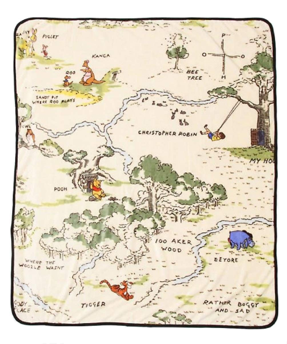 Disney Winnie The Pooh Hundred Acre Wood Throw Blanket