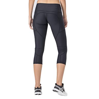 bad6ee76a75ea OUREA Non See-Through Yoga Pants Capris for Women with Pockets - High Waist  Tummy