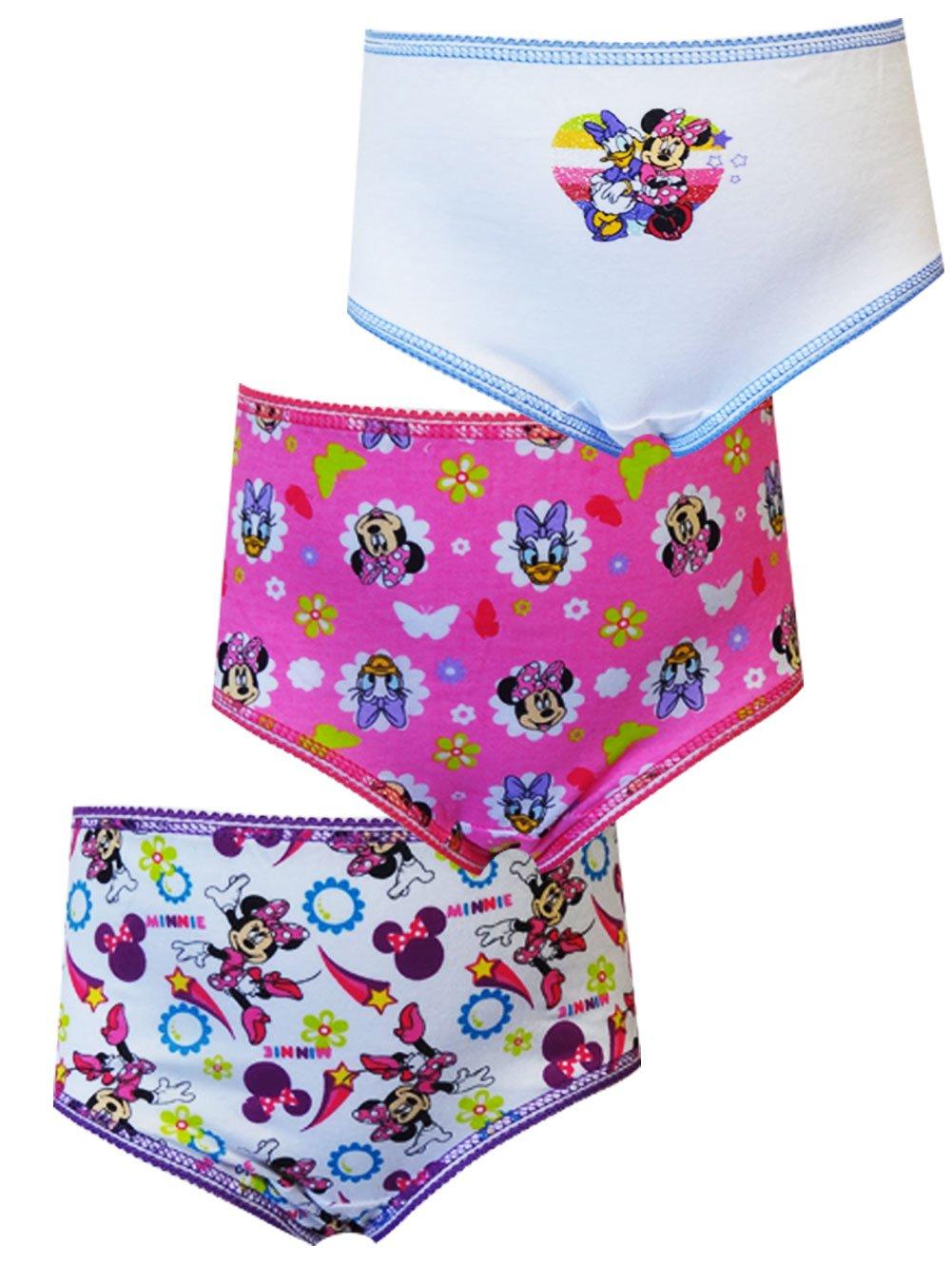Minnie Mouse Little Girls' Toddler Sensational Fun 3-Pack Panties Disney TGUP7204