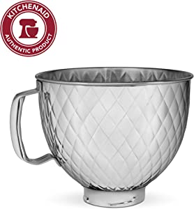 KitchenAid KSM5SSBQB 5QT SS Stand Mixer Bowl, 5 quart, Quilted Stainless Steel