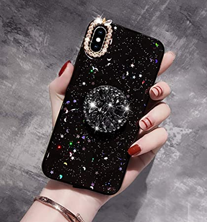 COVER Custodia Glitter Morbida Silicone GEL per Apple iPhone XS