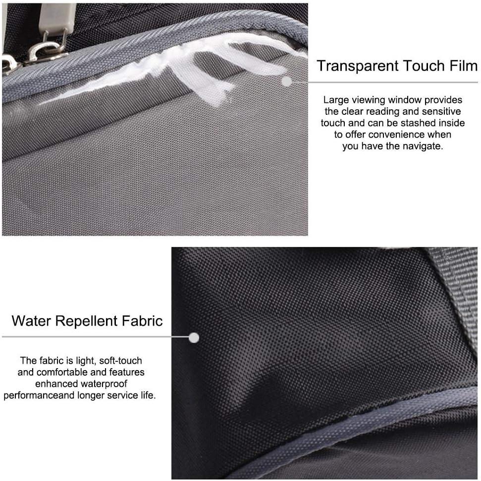 25X12CM Motorrad Satteltasche Wasserdicht Motorrad Lenker Tasche Motorrad Werkzeugtasche Werkzeugrolle Mit Transparenter Touchscreen Aufbewahrungstasche Und Verstellbarem Abnehmbarem Schultergurt