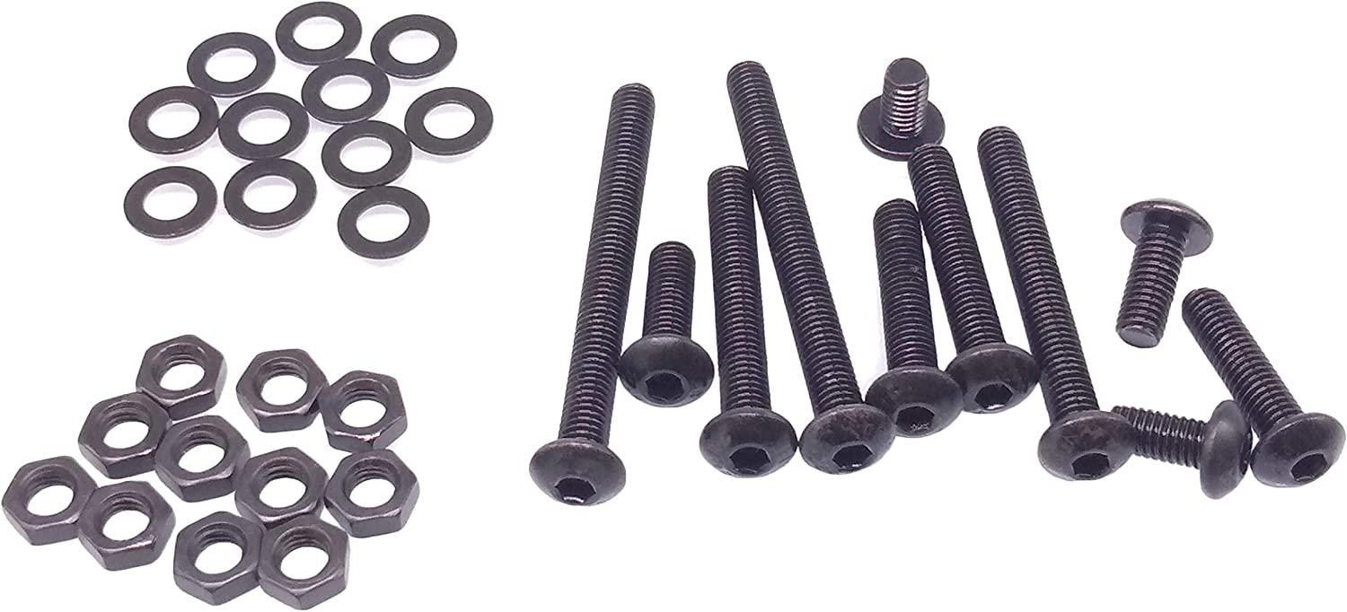 ISO 7380 Hex Drive with Nut and Washer Assortment Kit Alloy Steel Class 10.9 Yodaoke 220pcs M5-0.8 Button Head Socket Cap Screw