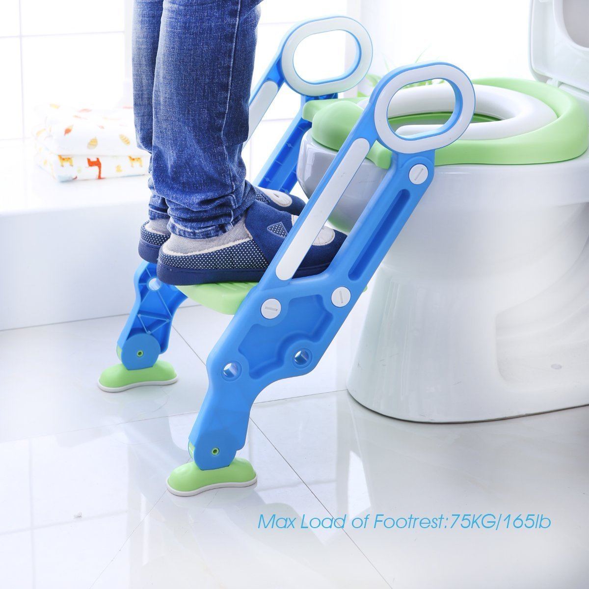 Potty Toilet Trainer Seat with Step Stool Ladder Adjustable Baby Toddler Kid Potty Toilet Seat for Boy and Girl Children's Toilet Training Seat Chair by Mangohood (Image #1)