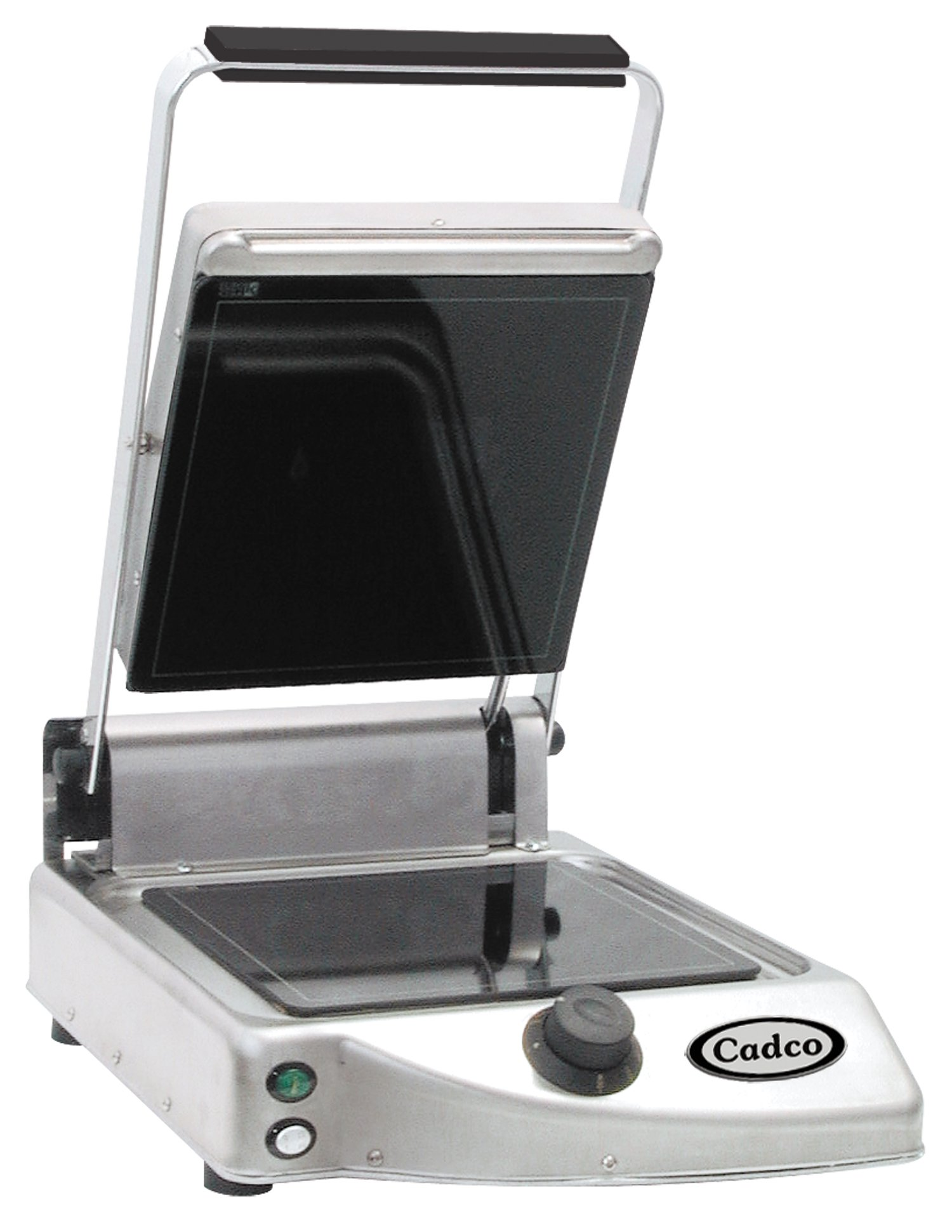Cadco Single Panini/Clamshell 120-Volt Grill with Smooth Top Plate