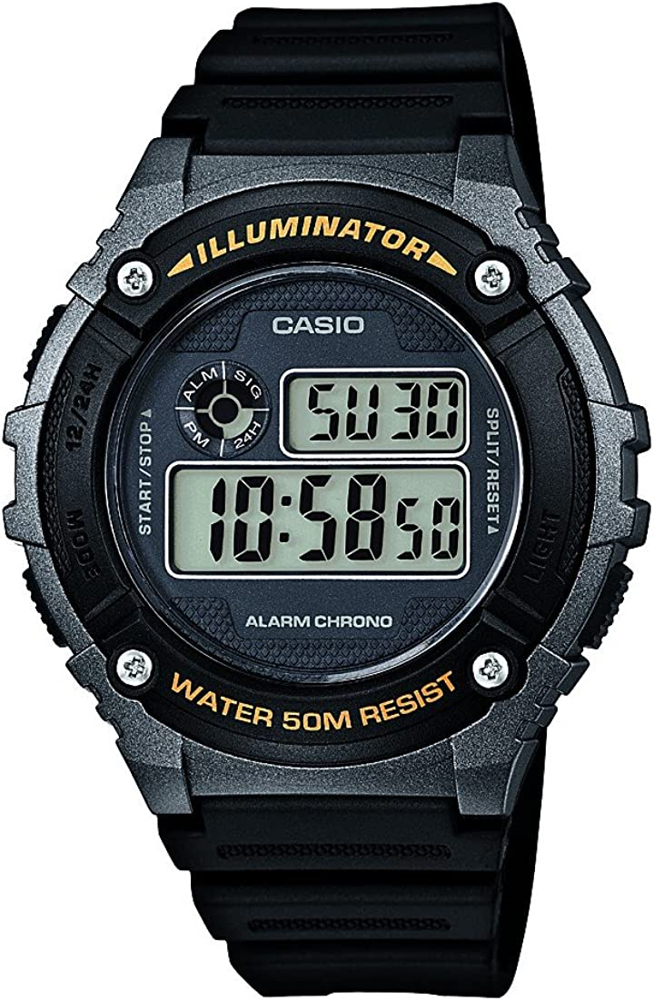 Casio Reloj con Movimiento japonés W+216H.1B 46 mm