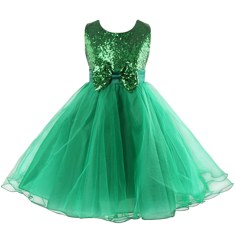 Acecharming Little Girls\' Sequin Flower Tulle Tutu Dress, Sleeveless ...
