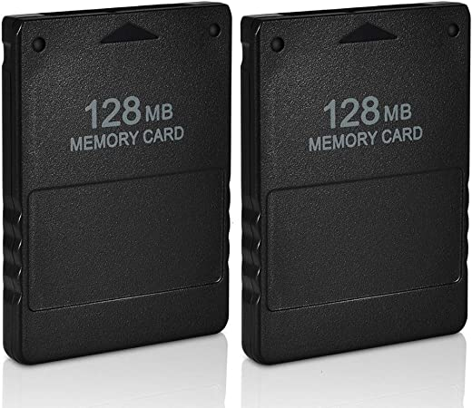 VOYEE Playstation Card, 2 Pack 128MB High Speed PS2 Memory Card ...
