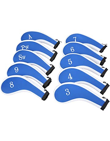 Sword  Shield sports Neoprene Zipper Golf Club Iron Head Covers Iron Covers  10pcs Set 0dc6d596f2