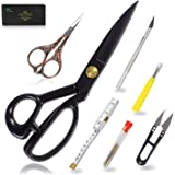 BIHRTC 9 Inch Fabric Dressmaking Scissors Sewing Embroidery Shears Scissors for Professional Tailors Dressmakers Office…