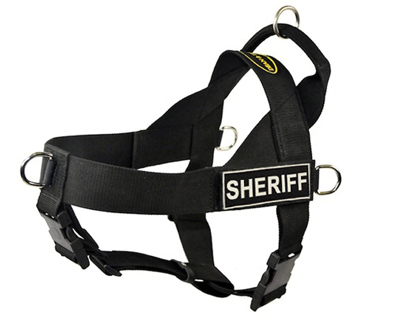 Dean & Tyler Universal No Pull Dog Harness, Sheriff, Black, X-Large, Fits Girth Size  91cm to 119cm